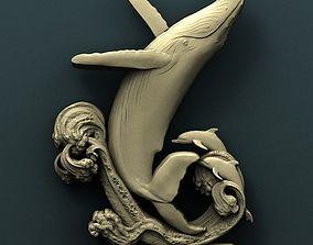 Spem whale 3d stl model for cnc