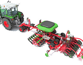 Tractor with Seed Drill 3D