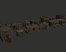 12 Houses of the zodiac 3D model low-poly