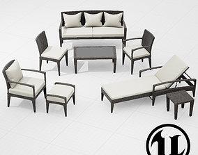 Dedon Panama Set UE4 3D model
