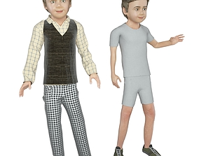 3D Boy real cloth simulation conversation loop animation 2