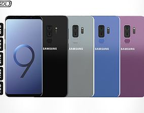 3D model Samsung Galaxy S9 Plus - All versions of colors