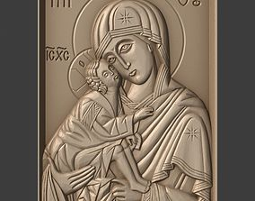 Orthodox Christian icon Our Lady of the Don 3D print model