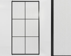 3D asset Glass partition door 52