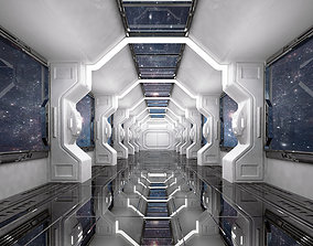 SCI FI INTERIOR SCENE SPACE SHIP 3D asset realtime
