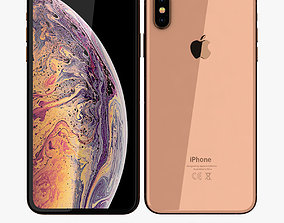 3D asset Apple iPhone XS Max Gold