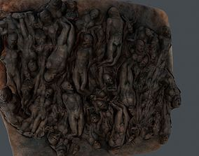 Human wall game ready human 3D model