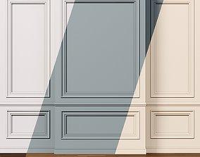 Wall molding 9 Boiserie classic panels 3D model