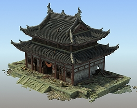 Shabby Chinese temple 3D