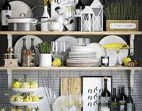 3D wok Kitchen decor set
