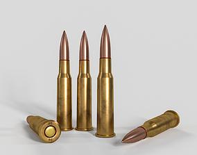 3D model Soviet or Russian cartridge for SVD PKM SVT-40 1