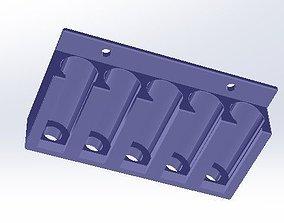 Five Position Dry Erase Marker Holder 3D print model