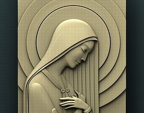 Virgin Mary 3d STL Model for CNC bas