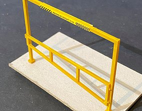 CAR PARK HEIGHT RESTRICTION BARRIER 7MM SCALE O GAUGE