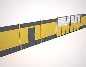 Hoarding Set Construction Site Segregation 3D asset