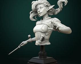3D print model Vaelia Arra sorcerer bust pre-supported