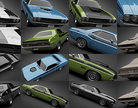 1971 Dodge Challenger Collection 3D model