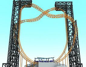 Vertical Roller Coaster 3D model