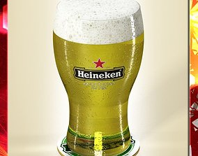 3D model Heineken Beer - Pint Glass