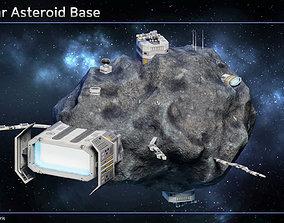 Modular Asteroid Base 3D model game-ready