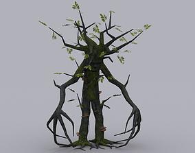 OAK TREE ENT GAME READY ANIMATED MODEL 3D asset