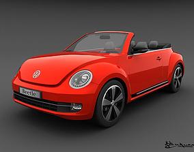3D Volkswagen Beetle Convertible 2013