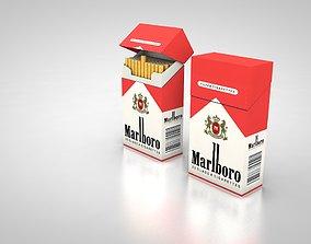 household 3D model Marlboro pack of Cigarette