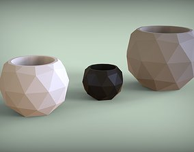 Icosahedron V2 Vases 3D print model