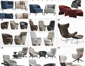 3D Lounge Armchair Collection