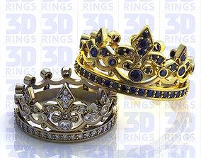 Wedding Golden Rings 682 3D model