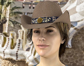 3D model Cowgirl Hat Package