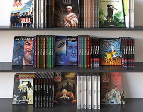 Book Set 03 Comics 3D