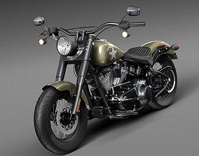 3D Harley Davidson Softail Slim S Army Design