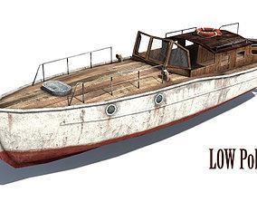3D asset Rusty Boat