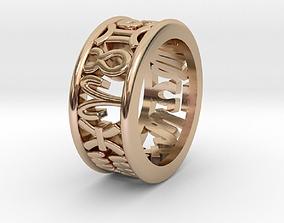 51size Constellation symbol ring 3D print model