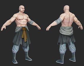 3D asset Ancient Chinese monk Warrior Monks Magebane