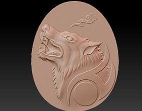 wolf head tiger 3D model