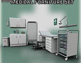 Medical Furniture Set 3D asset