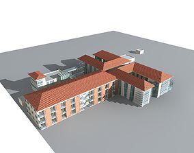 School Building 3D model block