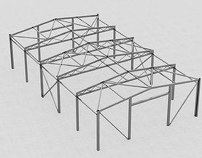3D asset Cold hangar construction