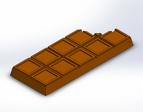 Chocolate Bar With Bite Keychain Charm 3D print model