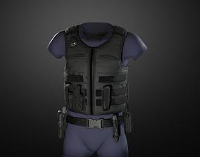 Police duty equipment 3D asset