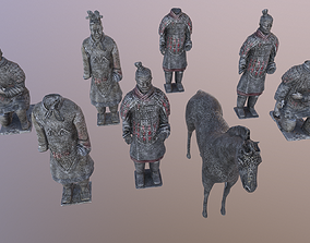 Terra Cotta Warriors Ancient Chinese Soldiers 3D model