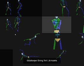 Goalkeeper Diving 7in1 3D model