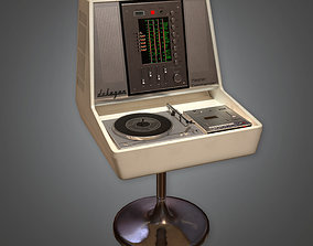 3D model HIFI Audio Player Midcentury Collection PBR Game