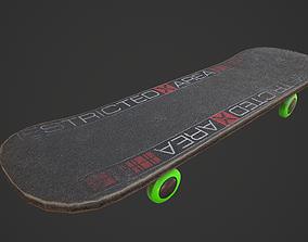 Urban Skateboard 3D model