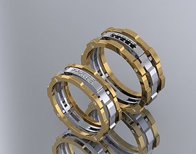 wedding ring mechanical-mechanism of 3D printable model