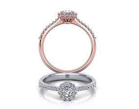 Diana Engagement ring Own Paradise 3D printable model 1