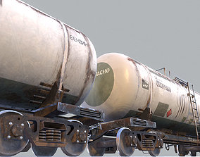 Railway Oil Tank Car vr2 3D model