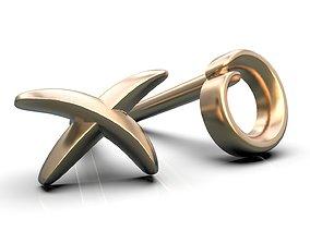 3D printable model tic tac toe earrings